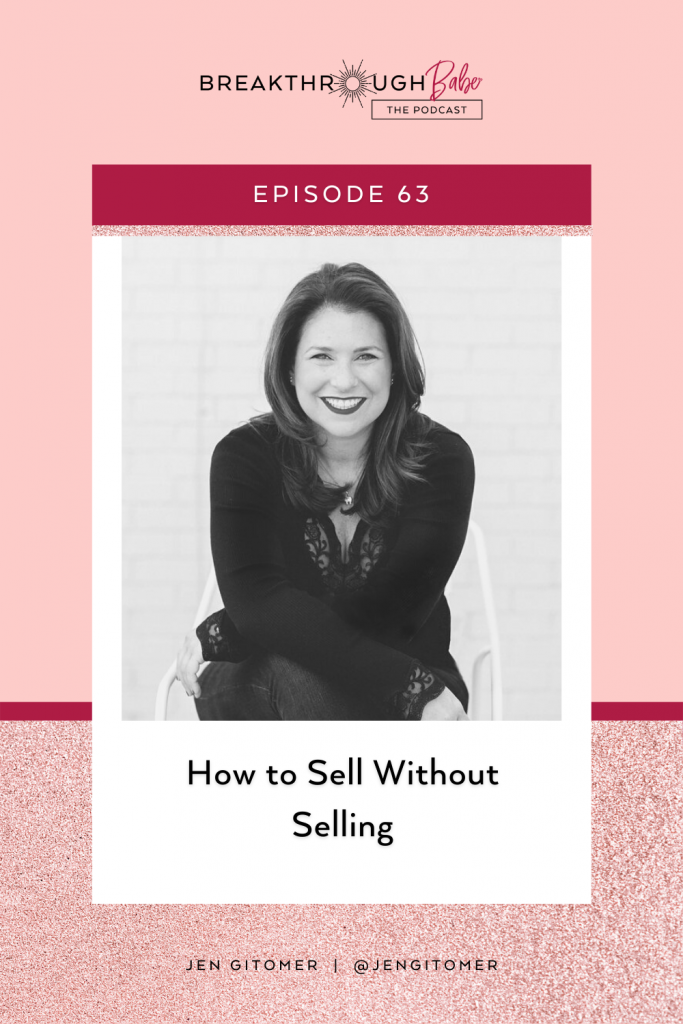 how to sell without selling